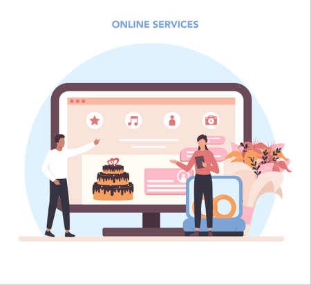 Wedding planner online service or platform. Professional organizer