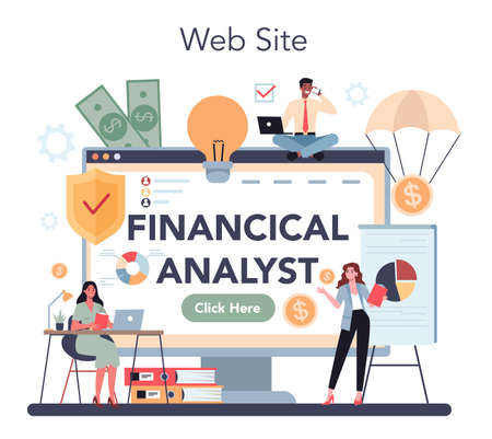 Financial analyst or consultant online service or platform