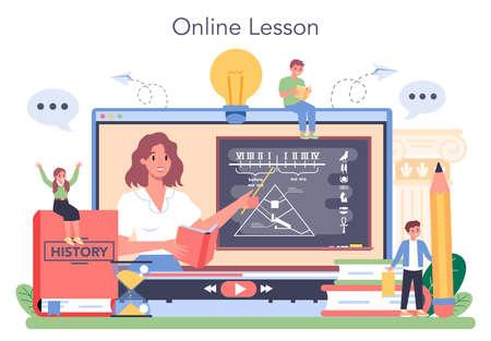 History online service or platform. History school subject. Idea 向量圖像