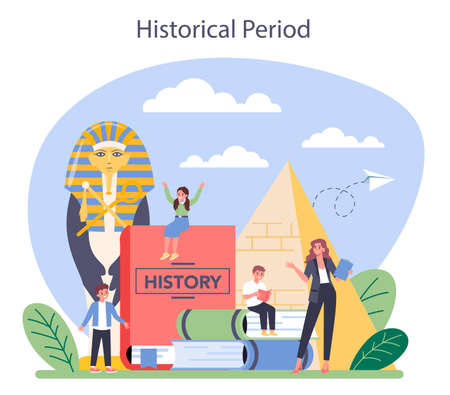 History concept. History school subject. Idea of science and education