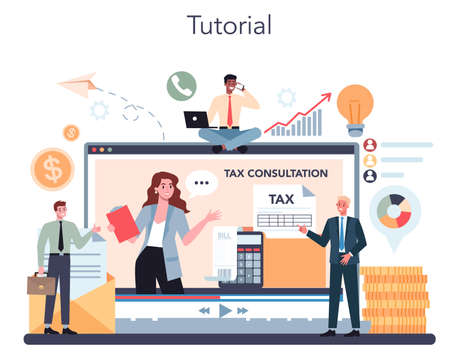 Tax consultant online service or platform. Tax audit, consultation