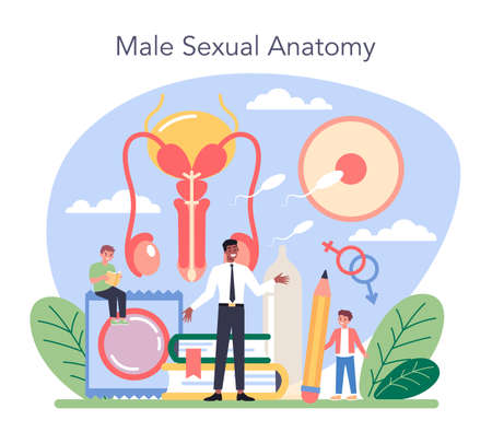 Sexual education concept. Sexual health lesson for young