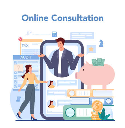 Audit online service or platform. Business operation research and analysis
