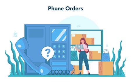 Seller concept. Professional worker in the supermarket, shop,