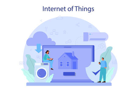 Internet of things concept illustration. Idea of cloud, technology