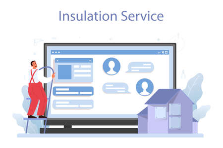 Insulation online service or platform. Thermal or acoustic insulation.