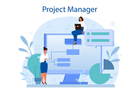 Project management concept. Successful strategy, motivation and leadership