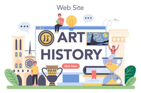 History of art online service or platform. Teacher tell kids about