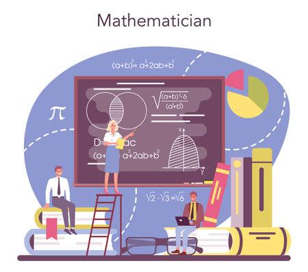 Mathematician. Mathematician seek and use scientific pattern 矢量图像