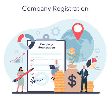 Offshore company registration. Professional businessman help with financial