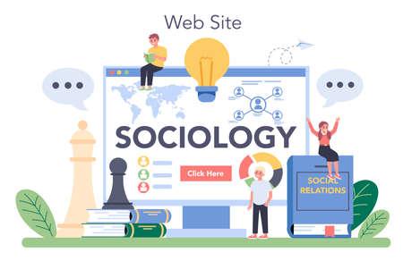Sociology school subject online service or platform. Students