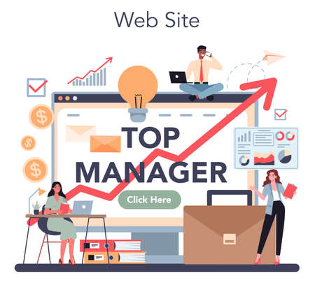 Top management online service or platform. Successful strategy