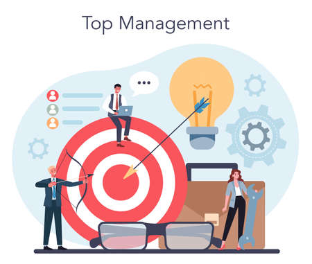 Business top management concept. Successful strategy, motivation