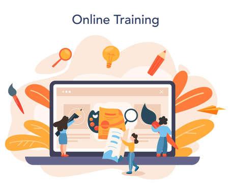 Advert designer online service or platform. Artist creating
