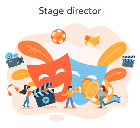 Director concept illustration. Idea of creative people and profession