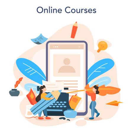 Professional writer or journalist online service or platform. Idea