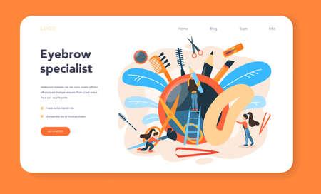 Eyebrow master and designer web banner or landing page