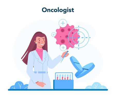 Professional oncologist concept. Cancer disease diagnostic and treatment Vecteurs