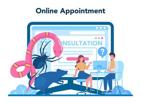 Psychiatrist online service or platform. Mental health diagnostic.