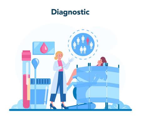Venereologist concept. Professional diagnostic of dermatology disease