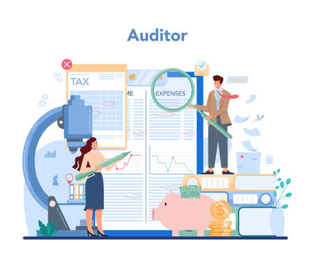Audit concept. Business operation research and analysis. Professional