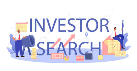 Inverstor search for start up typographic header. New business
