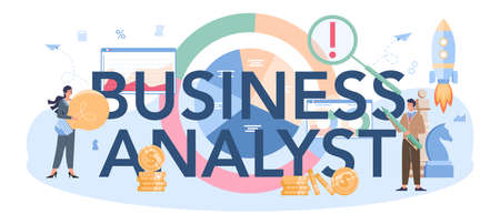 Business analyst typographic header. Project optimization consultant.
