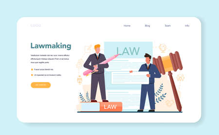 Politician web banner or landing page. Idea of election and governement