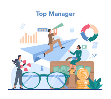 Business top management concept. Successful strategy and leadership