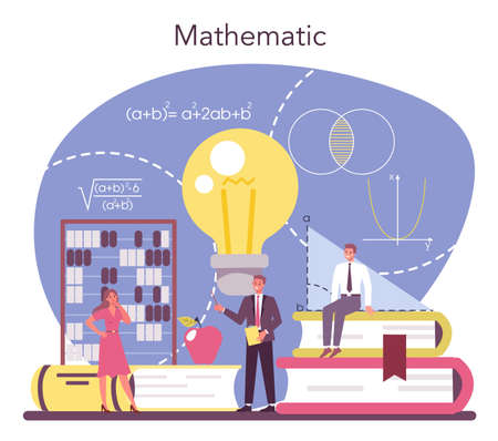 Mathematician. Mathematician seek and use scientific pattern Ilustração