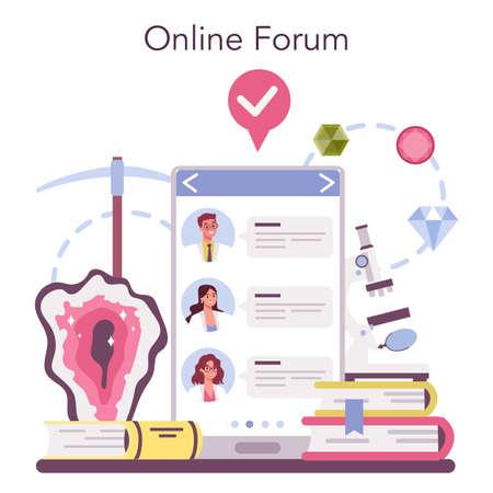 Mineralogist online service or platform. Professional scientist