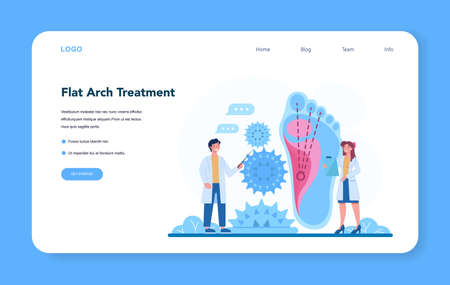Orthopedics doctor web banner or landing page. Idea of joint