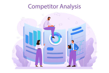 Competitor analysis concept. Market research and business