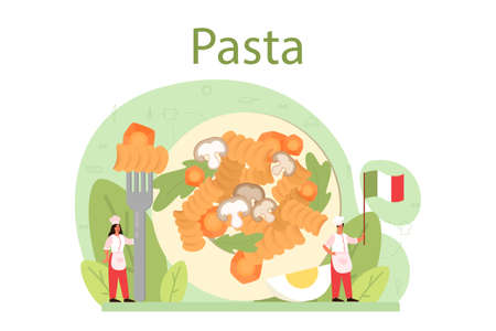 Spaghetti or pasta. Italian food on the plate. Delicious dinner,