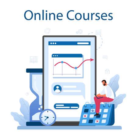 Time management online service or platform. Business people work