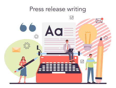 Press release concept. Mass media publishing, daily news