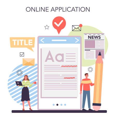 Press release online service or platform. Mass media