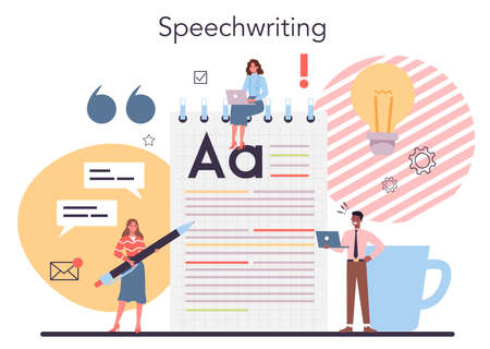 Storytelling concept. Professional speechwriter or journalist. Idea of creative