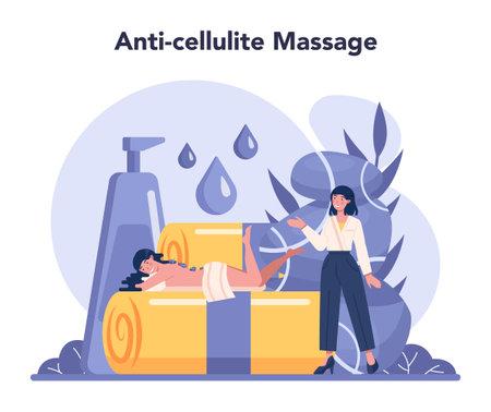 Massage and masseur concept. LPG massage procedure in beauty