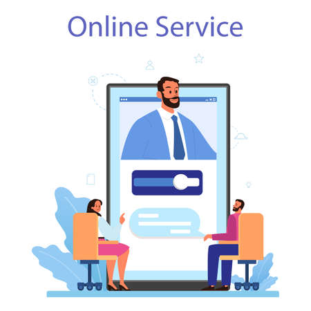 Directors board online service or platform. Business planning Illustration