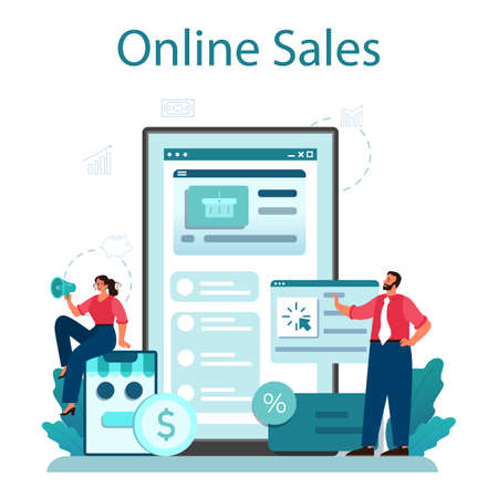 Sale online service or platform. Business planning and development. Sales