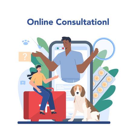 Pet veterinarian online service or platform. Veterinary doctor