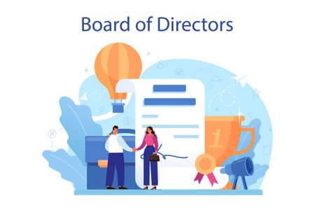 Directors board concept. Business planning and development