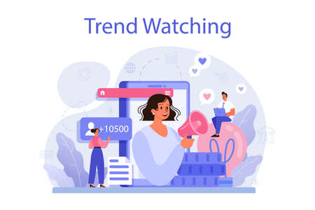 Trend watcher concept. Specialist in tracking the emergence