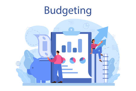 Budgeting concept. Idea of financial planning and well-being