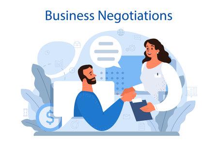 Business negotiations concept. Business planning and development Vektorgrafik