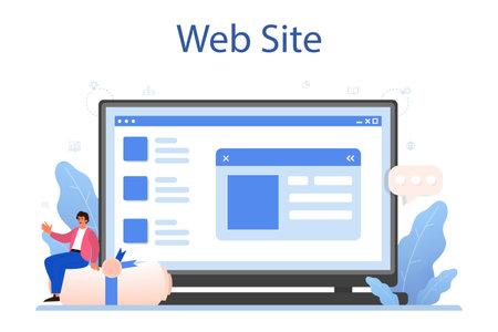 New company registration online service or platform. Business Illustration