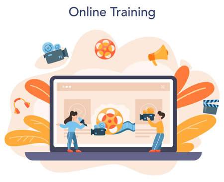 Videographer online service or platform. Movie and cinema