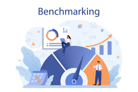 Benchmarking concept. Idea of business development and improvement.