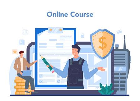 Encashment or collector online service or platform. Money Illustration